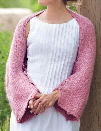 Free Knitting Pattern for Five-Way Cable Shrug