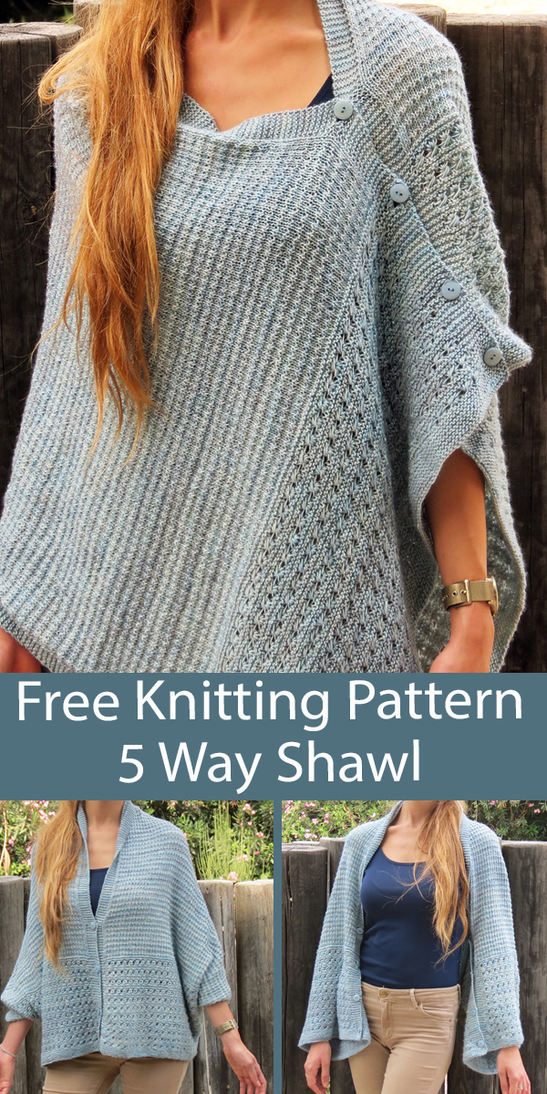 Free 5 Way Shawl Knitting Pattern