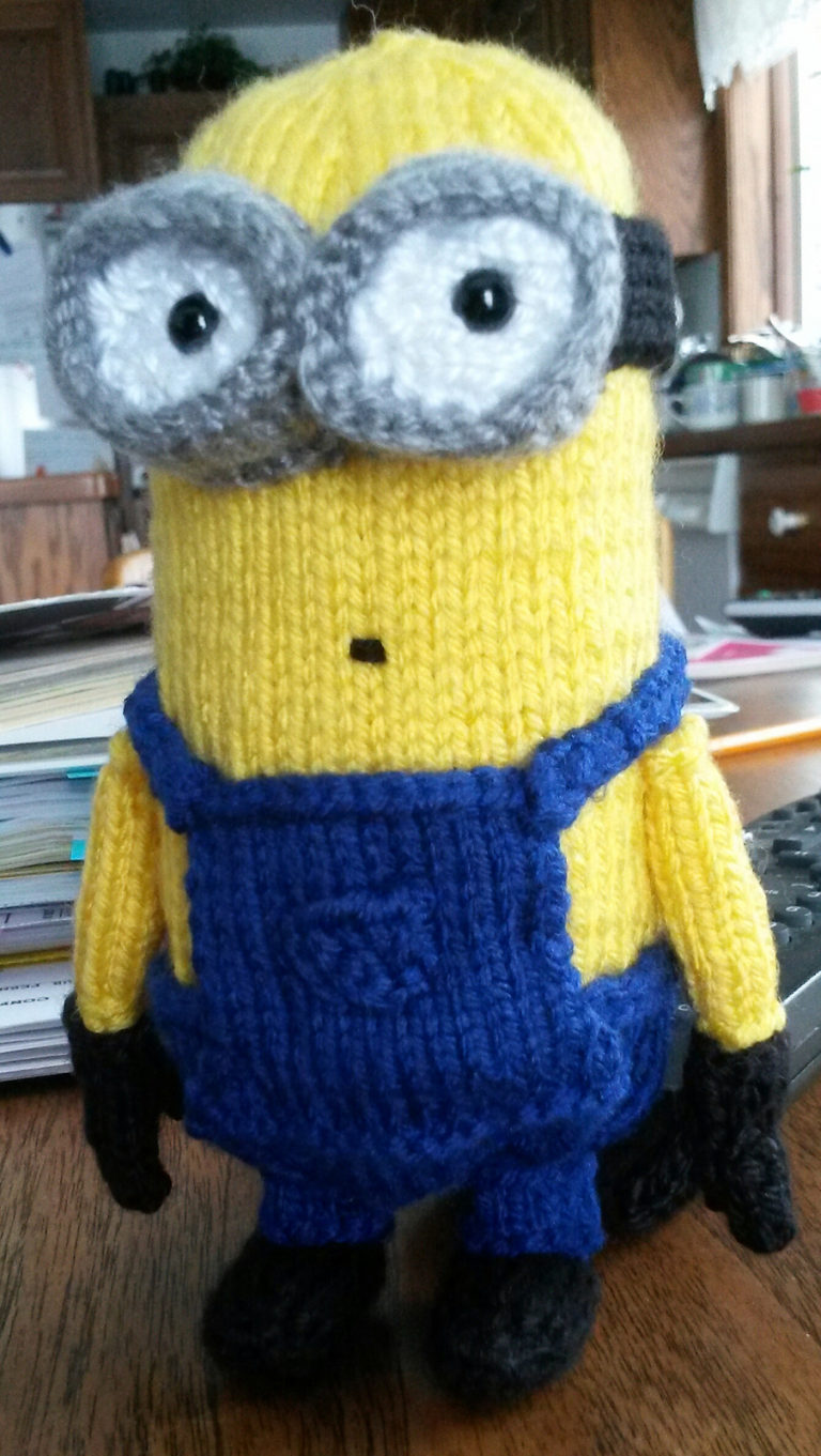 Free Knitting Pattern for Minion 6 Inch Toy