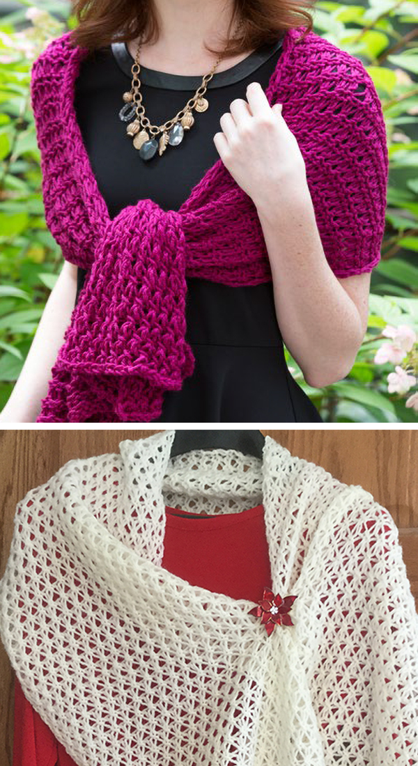 Free Knitting Pattern for 8-Hour Shawl