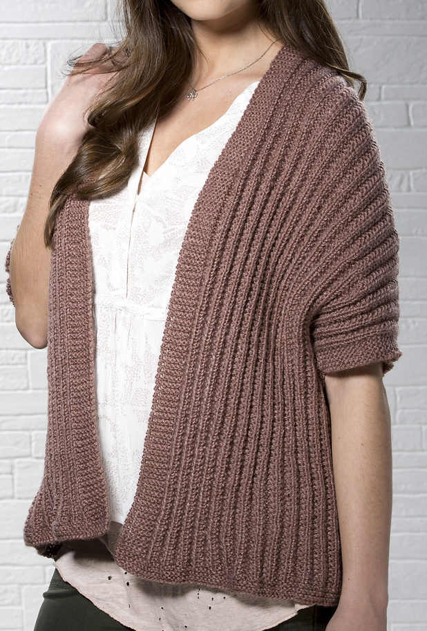 Free Knitting Pattern for 1 Row Repeat Rosy Disposition Cardi