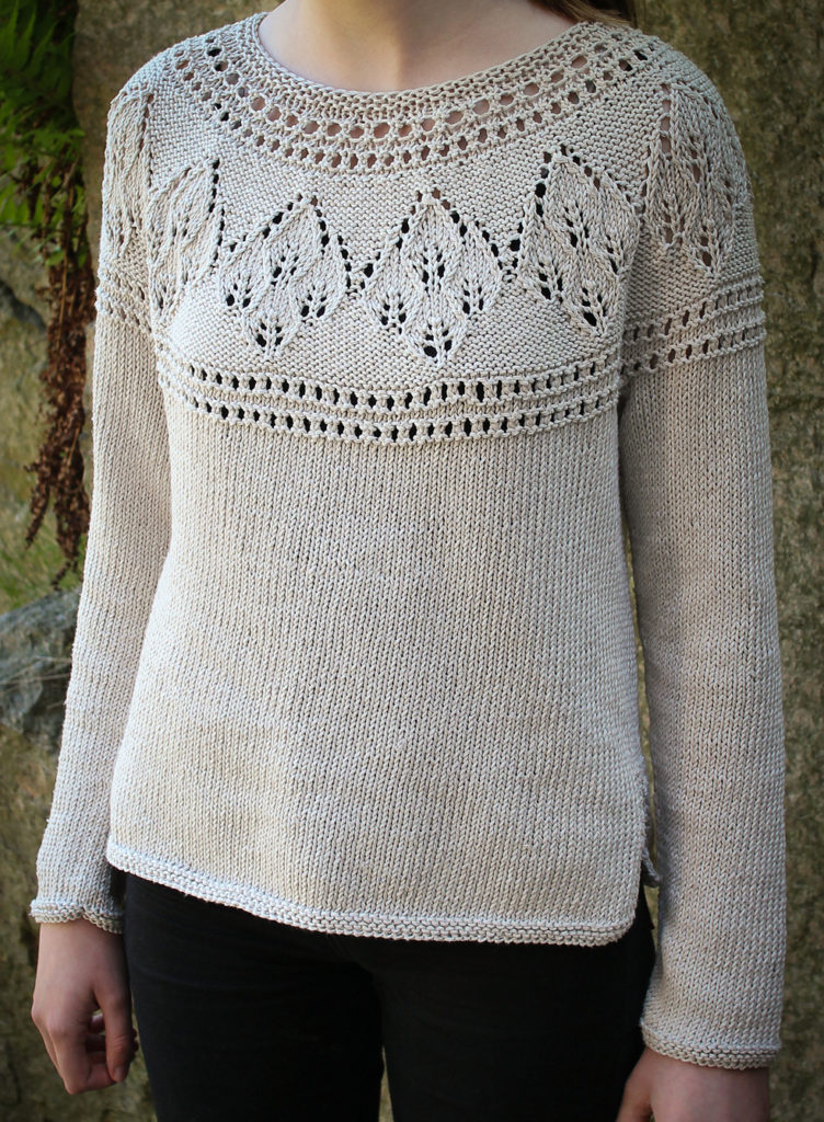Knitting Pattern for Agnes Round Yoke Sweater