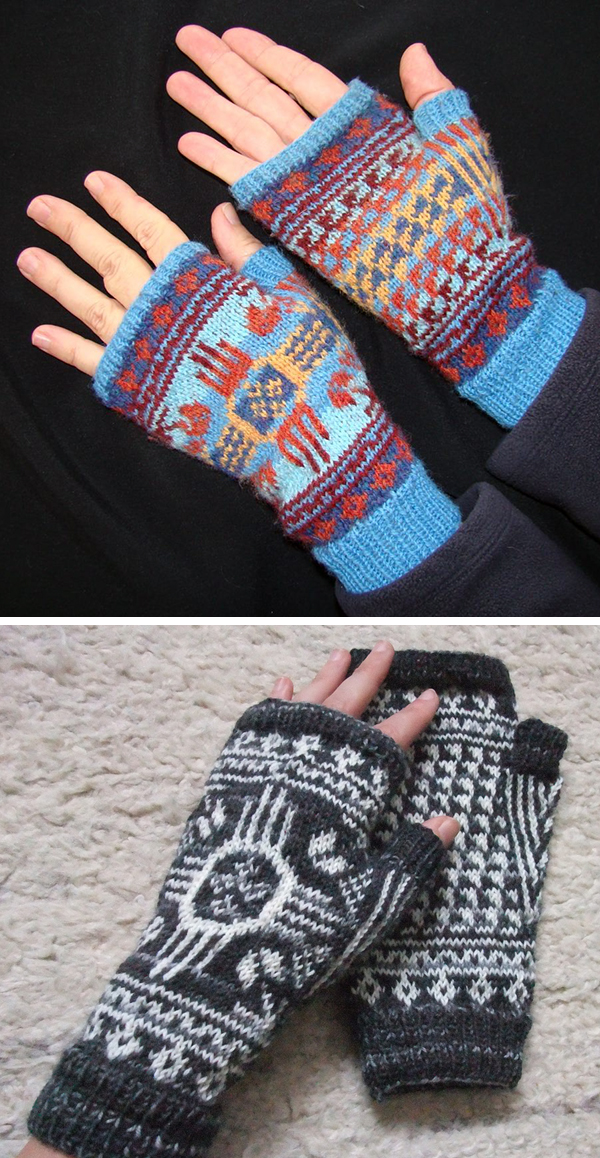 Free Knitting Pattern for Albuquerque Mitts