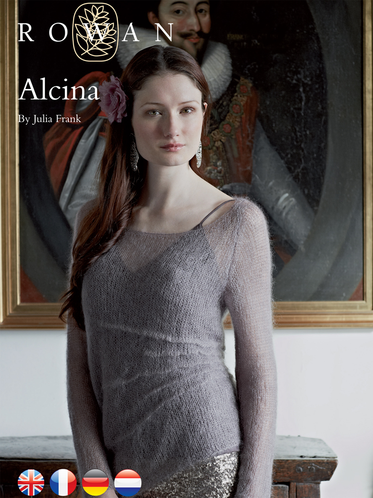 Alcina Lace Pullover Sweater Free Knitting Pattern | More Lace Pullover Knitting Patterns at https://intheloopknitting.com/free-lace-pullover-knitting-patterns/