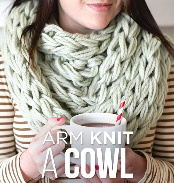 Free Knitting Pattern and Class for Arm Knit Cowl