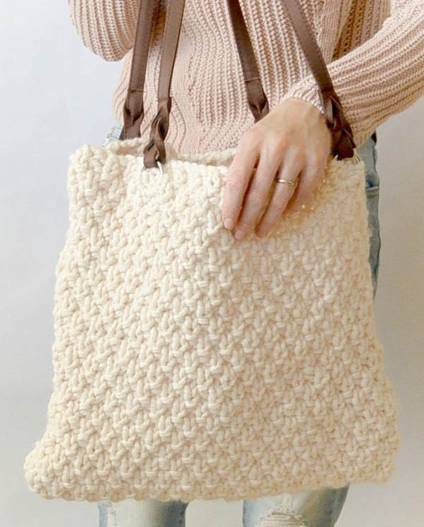 Free Knitting Pattern for Aspen Knit Bag