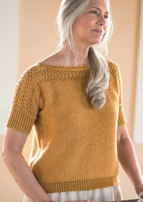 Free Knitting Pattern for 4 Row Repeat Diane Top