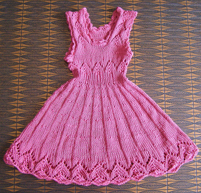 Pink Dream Girl's Dress free knitting pattern and more patterns for children's dresses
