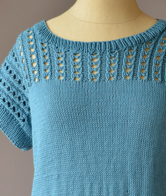 Free Knitting Pattern for Blissful Tee Top