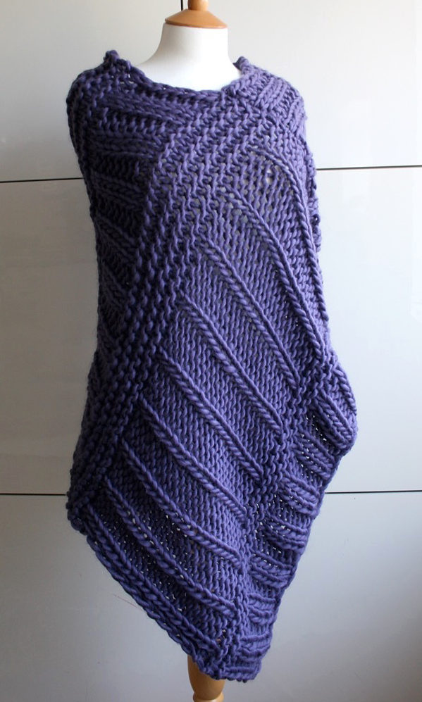 Knitting Pattern for Boho Poncho