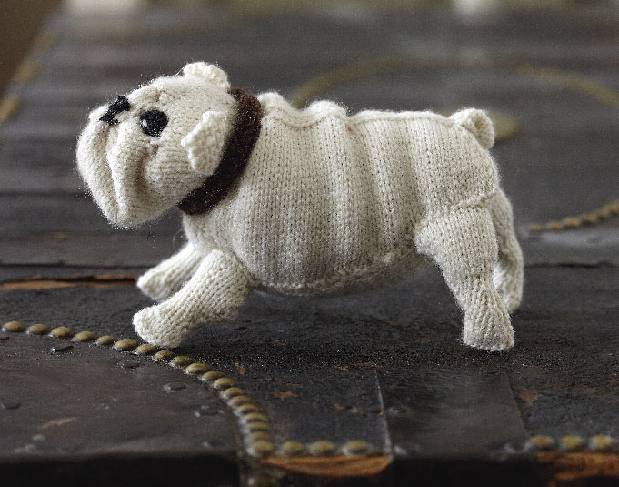 English Bulldog Free Knitting Pattern and more dog knitting patterns
