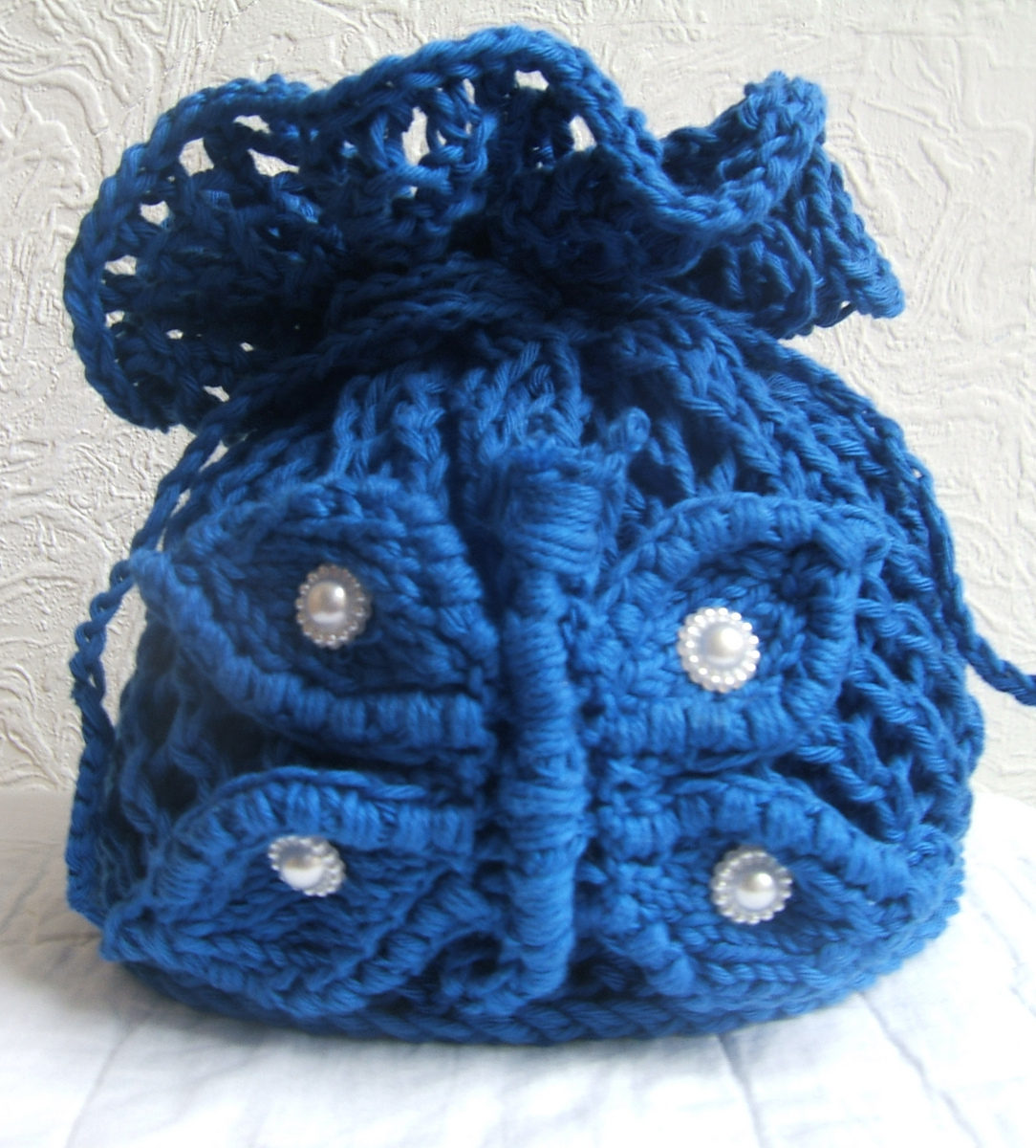 Free Knitting Pattern for Butterfly Posy Bag