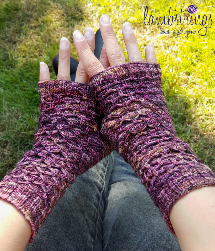 Free Knitting Pattern for Carbon Fingerless Mitts