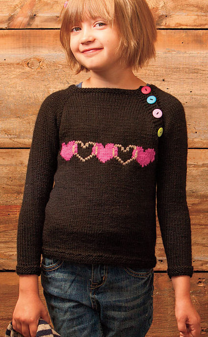 Knitting Pattern for Heartgyle Pullover