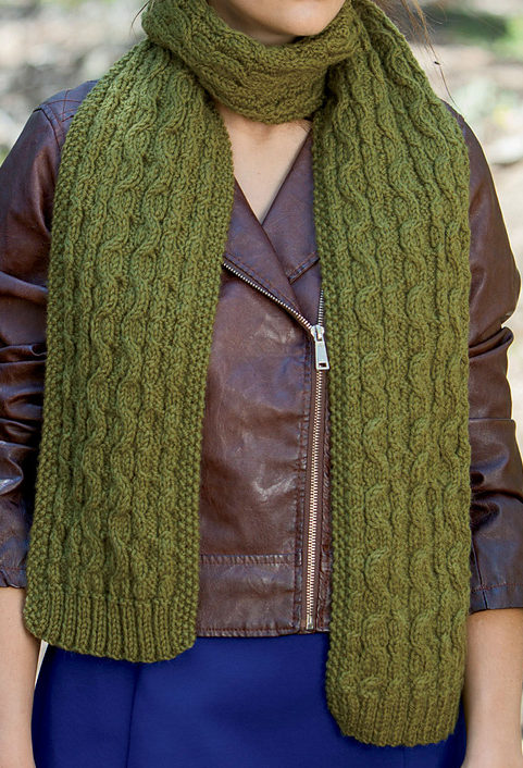 Knitting Pattern for Reversible Chokecherry Scarf