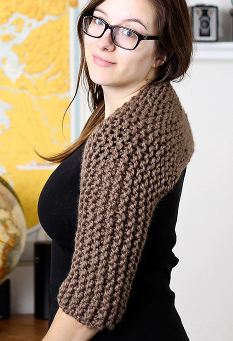 Free Knitting Pattern for Easy Claire's Shrug