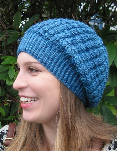 Knitting pattern for Sunny Slouchy Beret and more slouchy beret knitting patterns