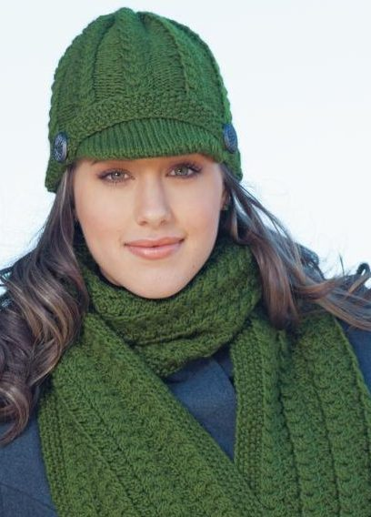 Knitting Pattern for Copenhagen Hat and Scarf Set