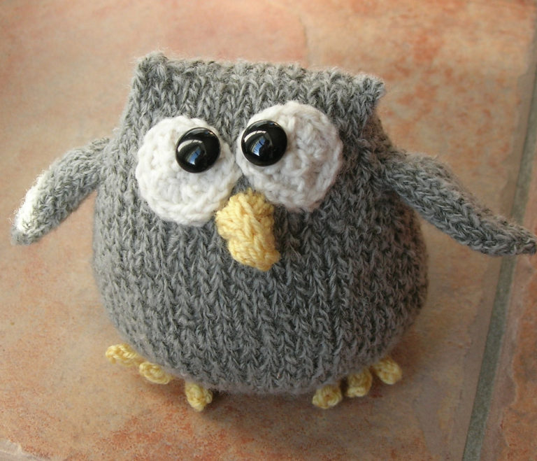 Free Knitting Pattern for Cordell the Owl Toy