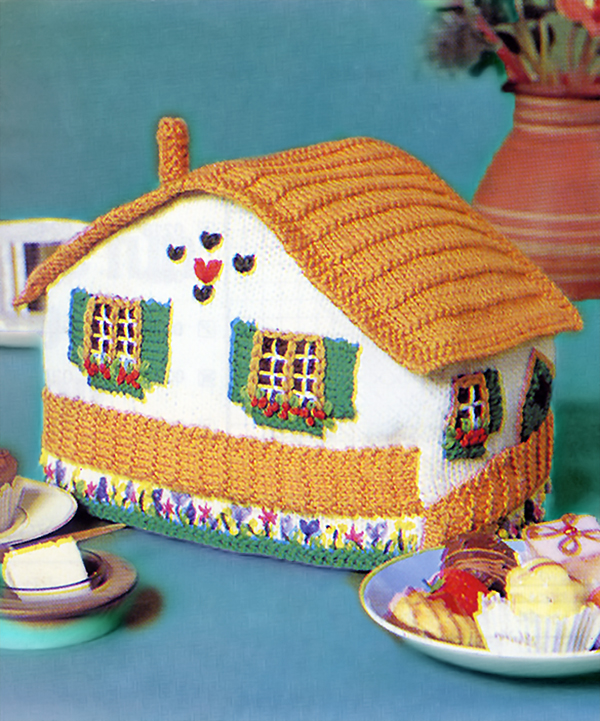 Free knitting pattern for Cottage Tea Cosy