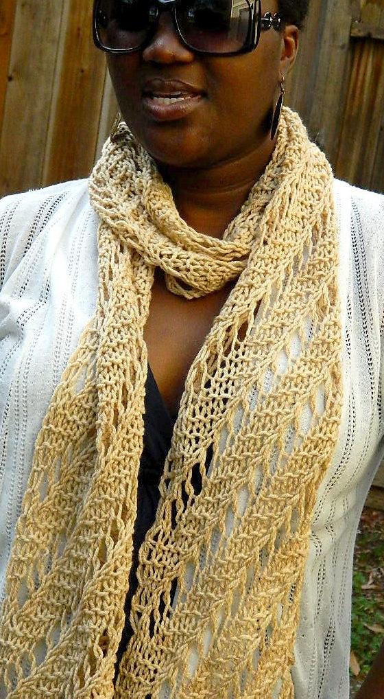 Free Knitting Pattern for Easy Colliding Stars Scarf