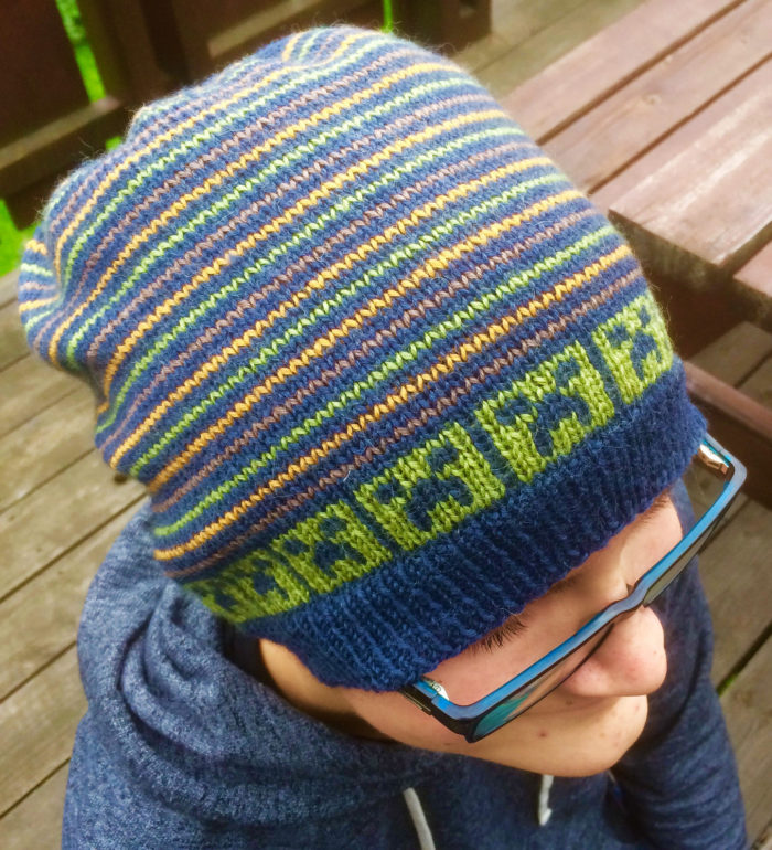 Free Knitting Pattern for Minecraft Creeper Hat