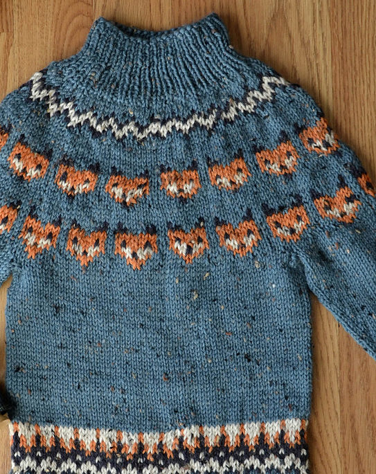 Free Knitting Pattern for Fox Sweater