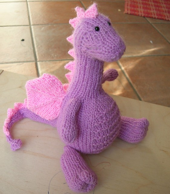 Free knitting pattern for Tarragon the Dragon and other fantastical knitting patterns
