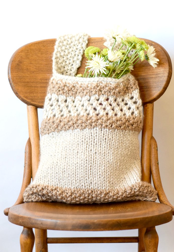 Free Knitting Pattern for Darice Market Tote