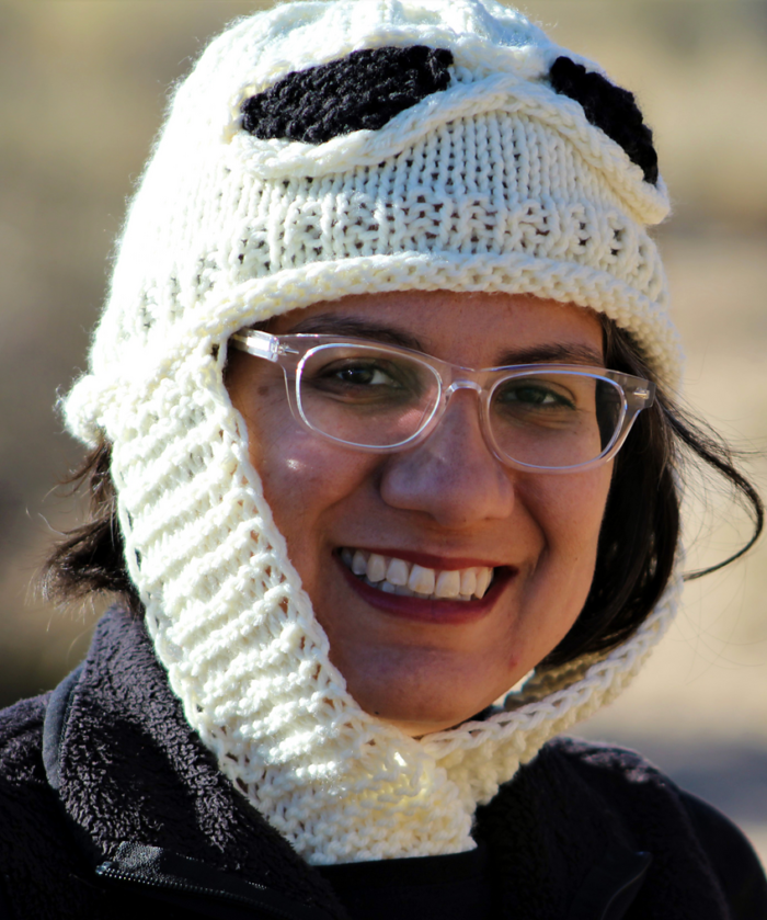 Free Knitting Pattern for Star Wars inspired Desert Scavenger Hat