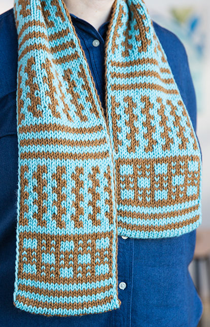 Free Knitting Pattern for Double Knit Scarf