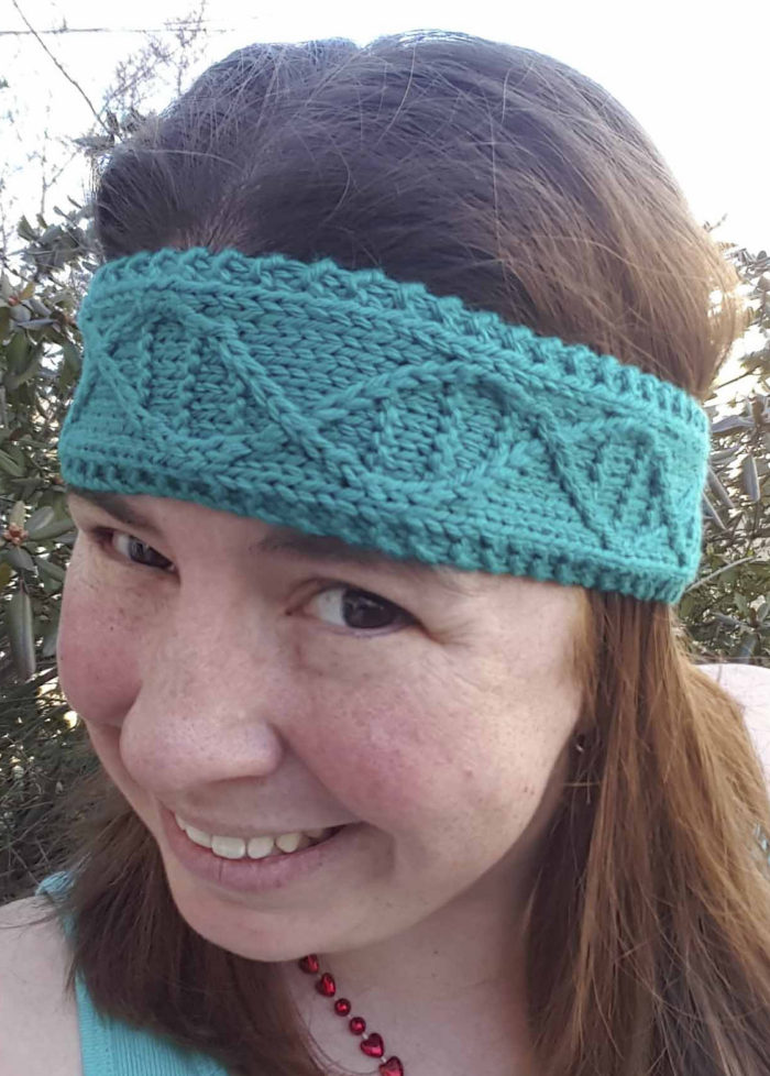 Free Knitting Pattern for DNA Headband