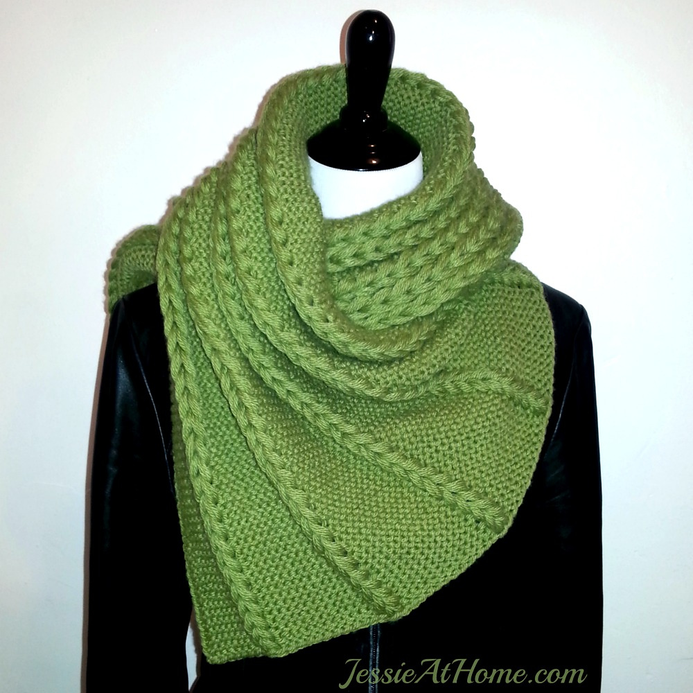 Dropped and Found Wrap Free Knitting Pattern