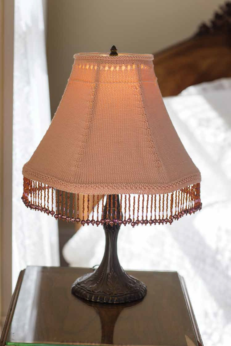 Knitting pattern for lampshade and more household knitting patterns