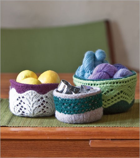 Knitting pattern for soft porcelain style bowls and more household knitting patterns