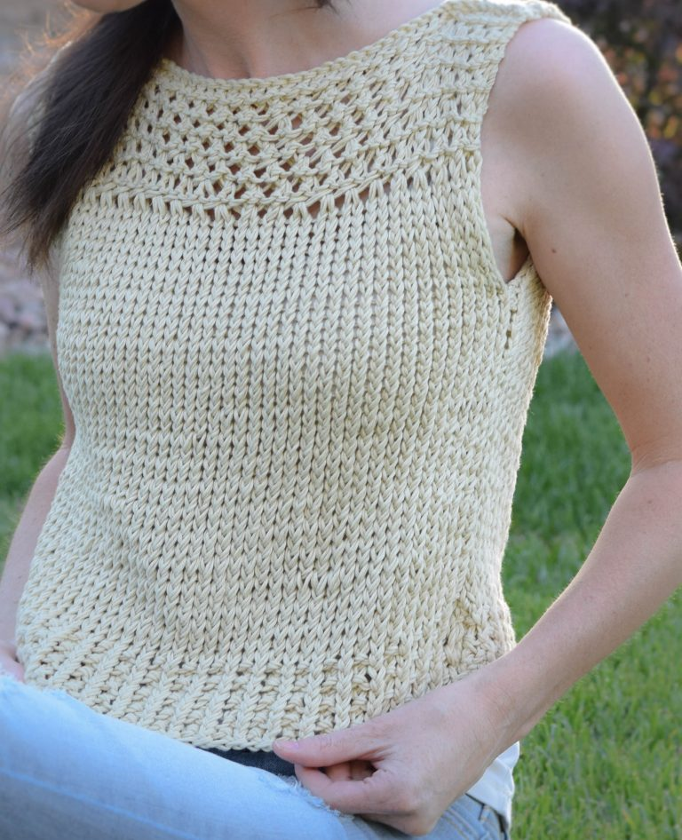 Free Knitting Pattern for Summer Vacation Easy Top