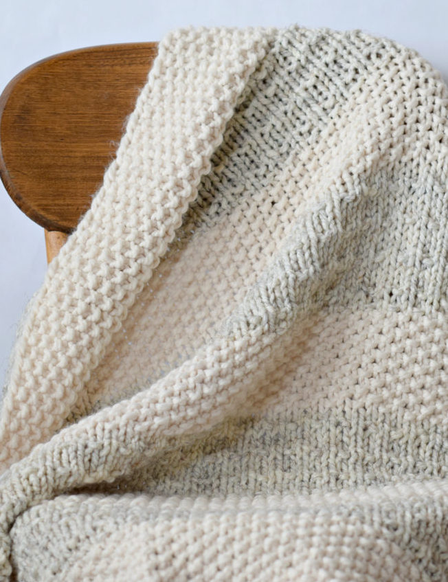 Free Knitting Pattern for Easy Heirloom Blanket