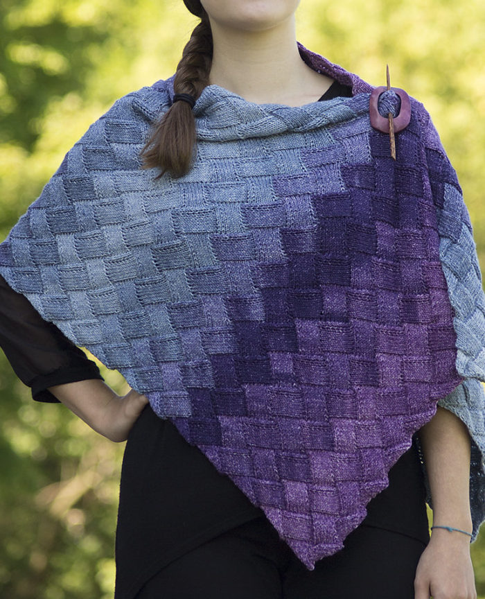 Free Knitting Pattern for Entrelac Stole