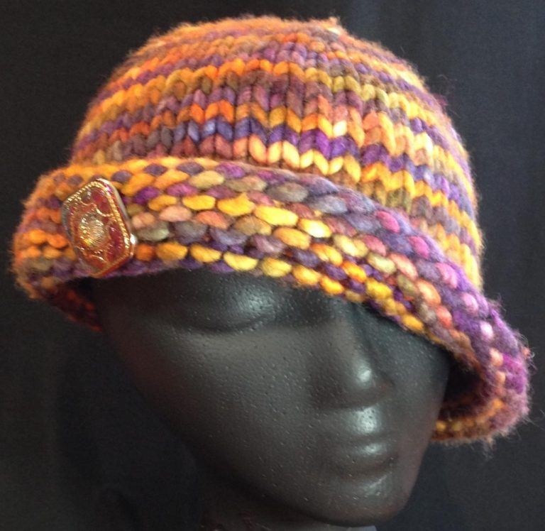 Free knitting pattern for Fall Cloche