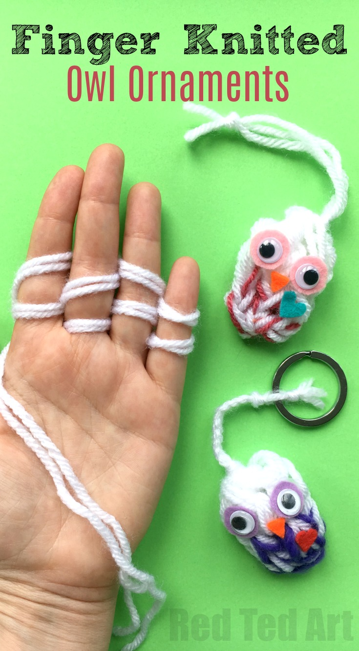 Free Finger Knitting Pattern for Owls