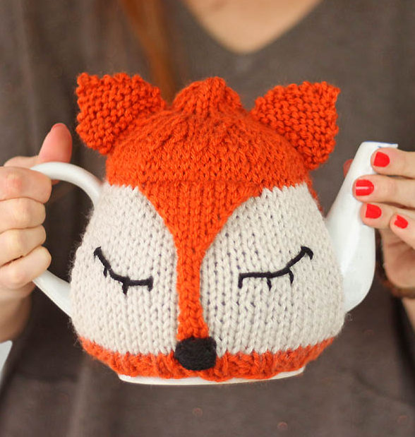 Free Knitting Pattern for Fox Tea Cosy