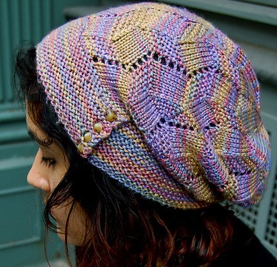 Fracture Light Slouchy Hat free knitting pattern