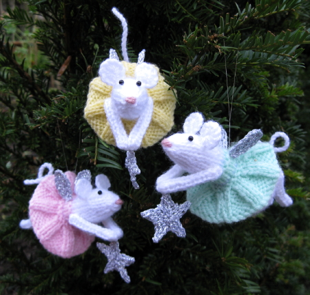 Free Knitting Pattern for Furry Fairies Ornaments