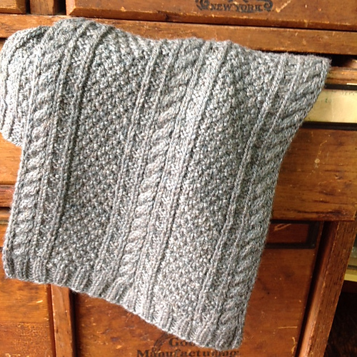Free Knitting Pattern 4-Row Gansey Scarf