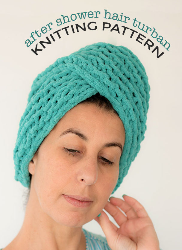 Free Knitting Pattern for After Shower Hair Turban