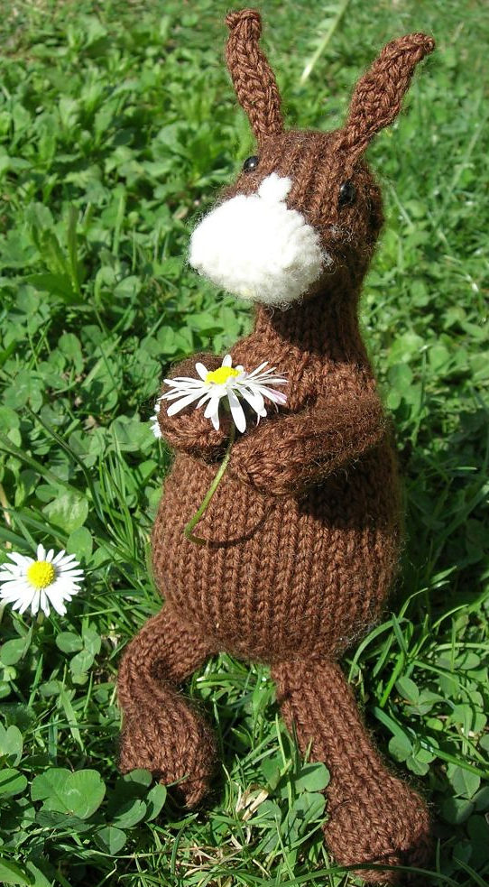 Free Knitting Pattern for Hannibal the Donkey