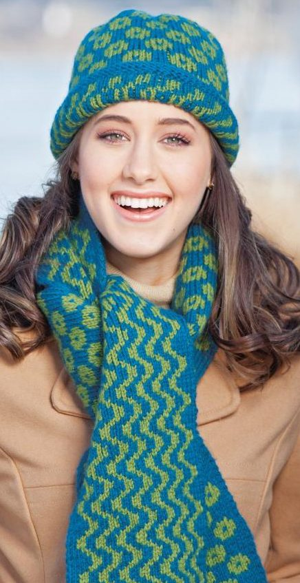 Knitting Pattern for Helsinki Hat and Scarf Set