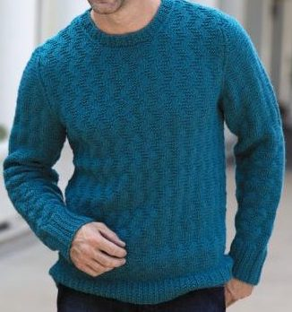 Knitting Pattern for His Zigzag Pullover