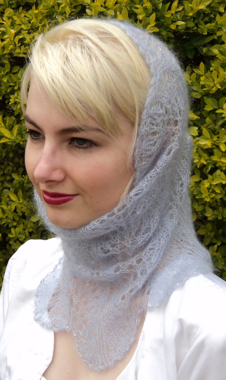 Free Knitting Pattern for Ice Queen Cowl Hood