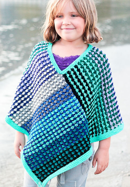 Free Knitting Pattern for Ice Queen Poncho
